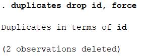 STATA - Duplicate Observation 5