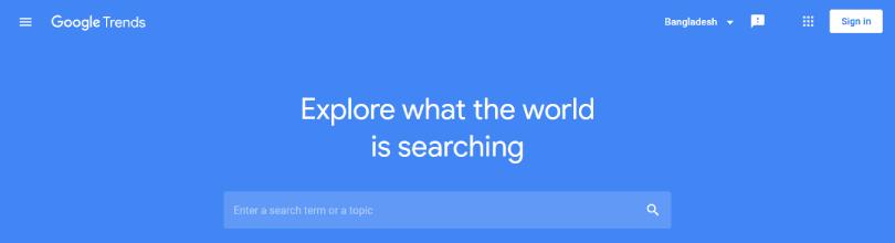 গুগল ট্রেন্ডস (Google Trends): কীওয়ার্ড রিসার্চের টুল